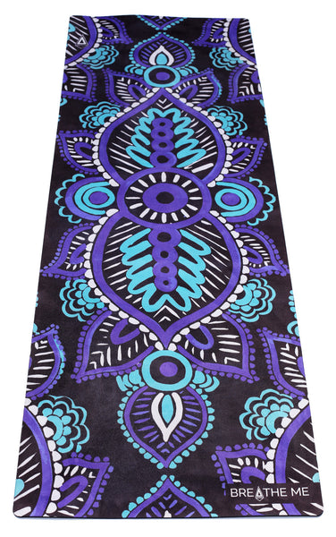 Mandala Black Printed Yoga Mat Breathe Me Yoga