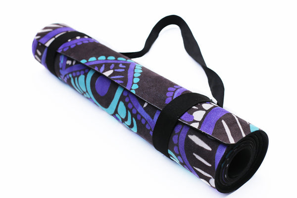 Mandala - Black - Printed Yoga Mat