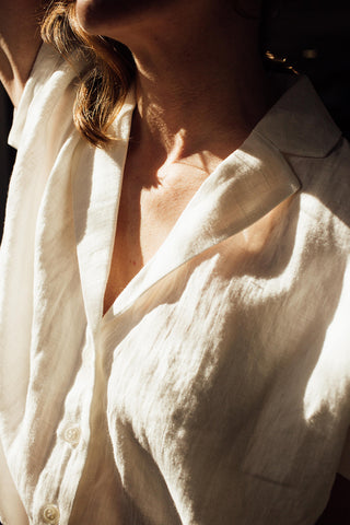 White Button Up Blouse from Textile Apparel