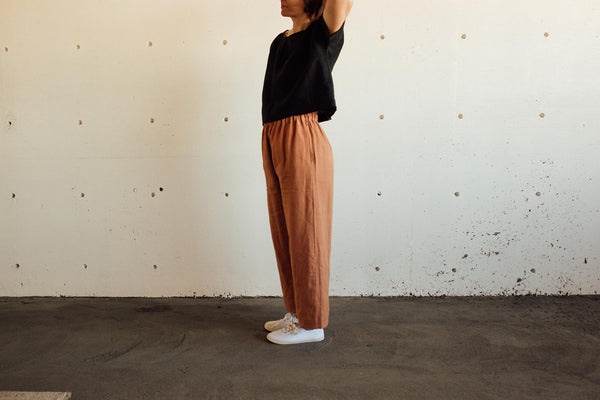 Wide leg linen trousers from Textile Apparel