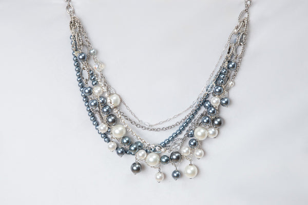 A buyer's guide to pearls- a Carolily Finery statement necklace made from Swarovski Crystal Pearls