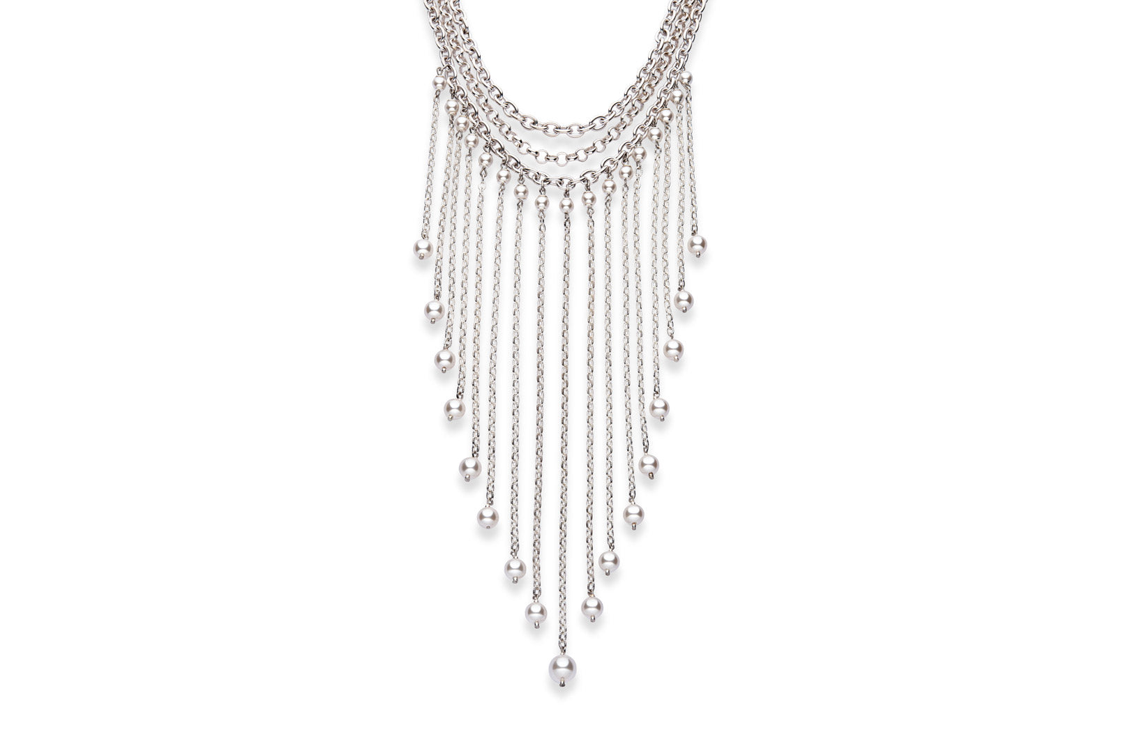 Silver and Swaorvski crystal pearl necklace