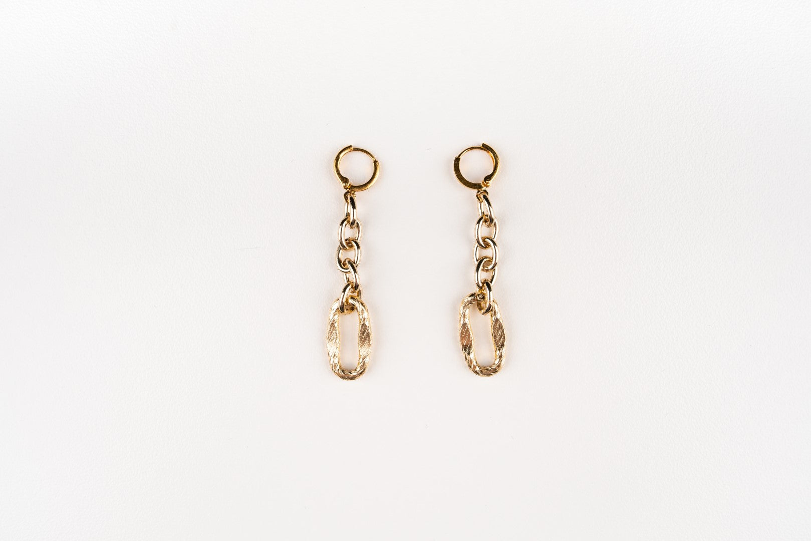 Carolily Finery earrings made from gold filled chain