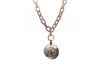 Angelique White Bronze Necklace