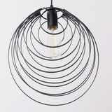 Unitary Brand Antique Black Metal Shell Shape Shade Pendant light with 1 light Painted Finish