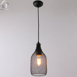 Unitary Brand Antique Black Metal Nets Shade Pendant lighting with 1 light Painted Finish