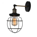 Unitary Brand Antique Black Metal Cage Shade Wall light