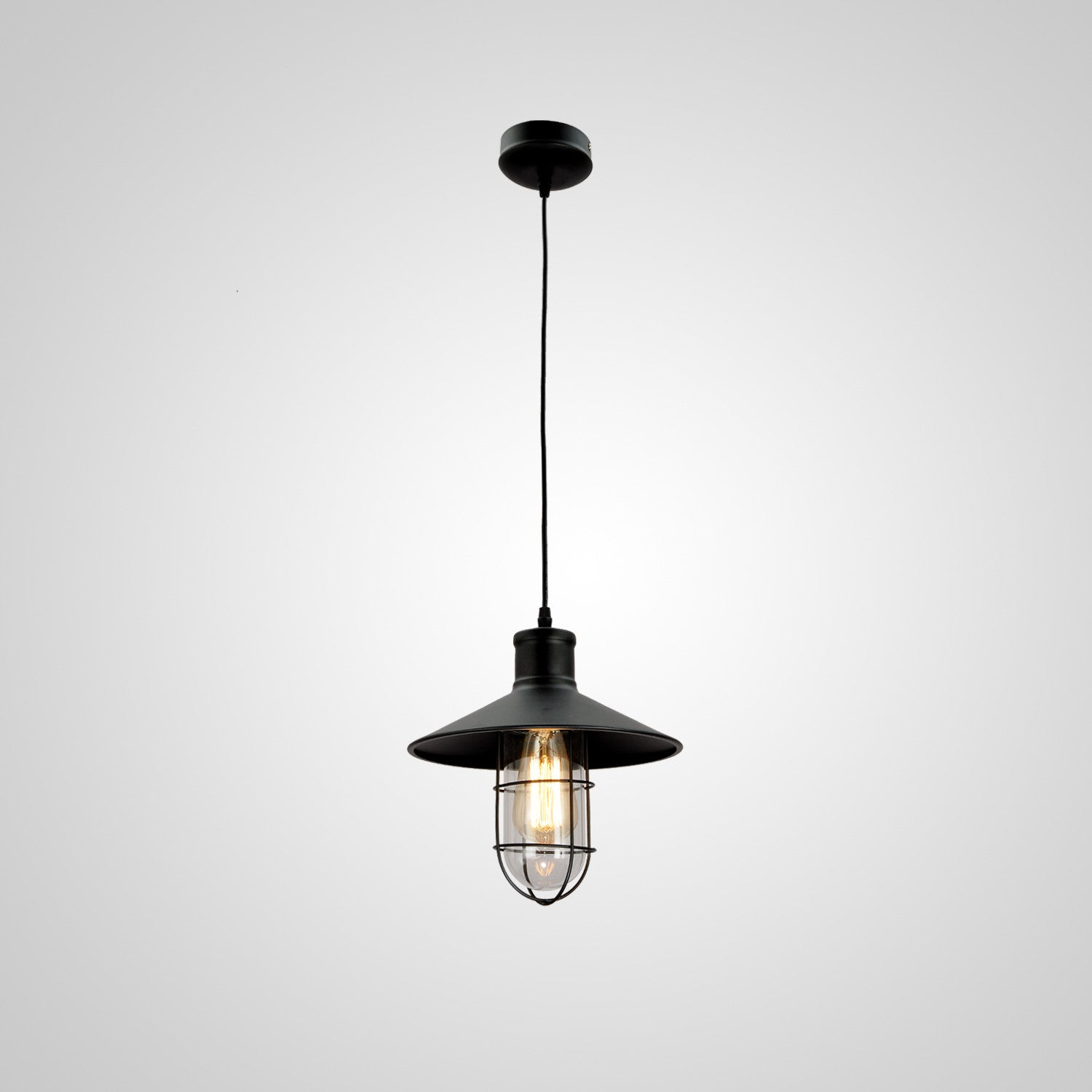 UNITARY BRAND Vintage Metal Shade Industrial Pendant Light Max 60W with 1 light Painted Finish