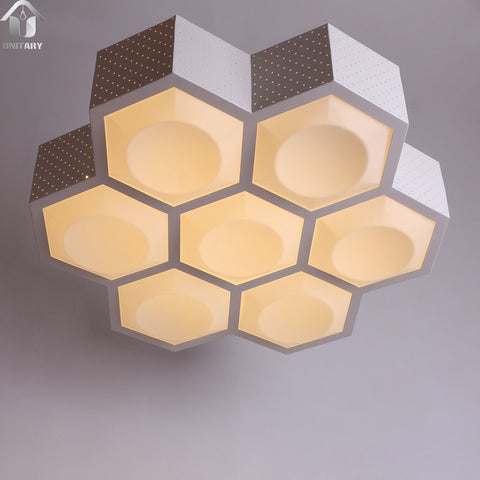 Modern Warm White LED Acrylic Flush Mount Ceiling Lighting white Finish