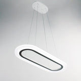 Modern Oval Nature White LED Pendant Lighting Fixture 30W Painted Finish