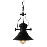 Unitary Brand Antique Black Metal Round Shade Pendant light