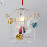 Unitary Rural Bird Cage Pendant Light