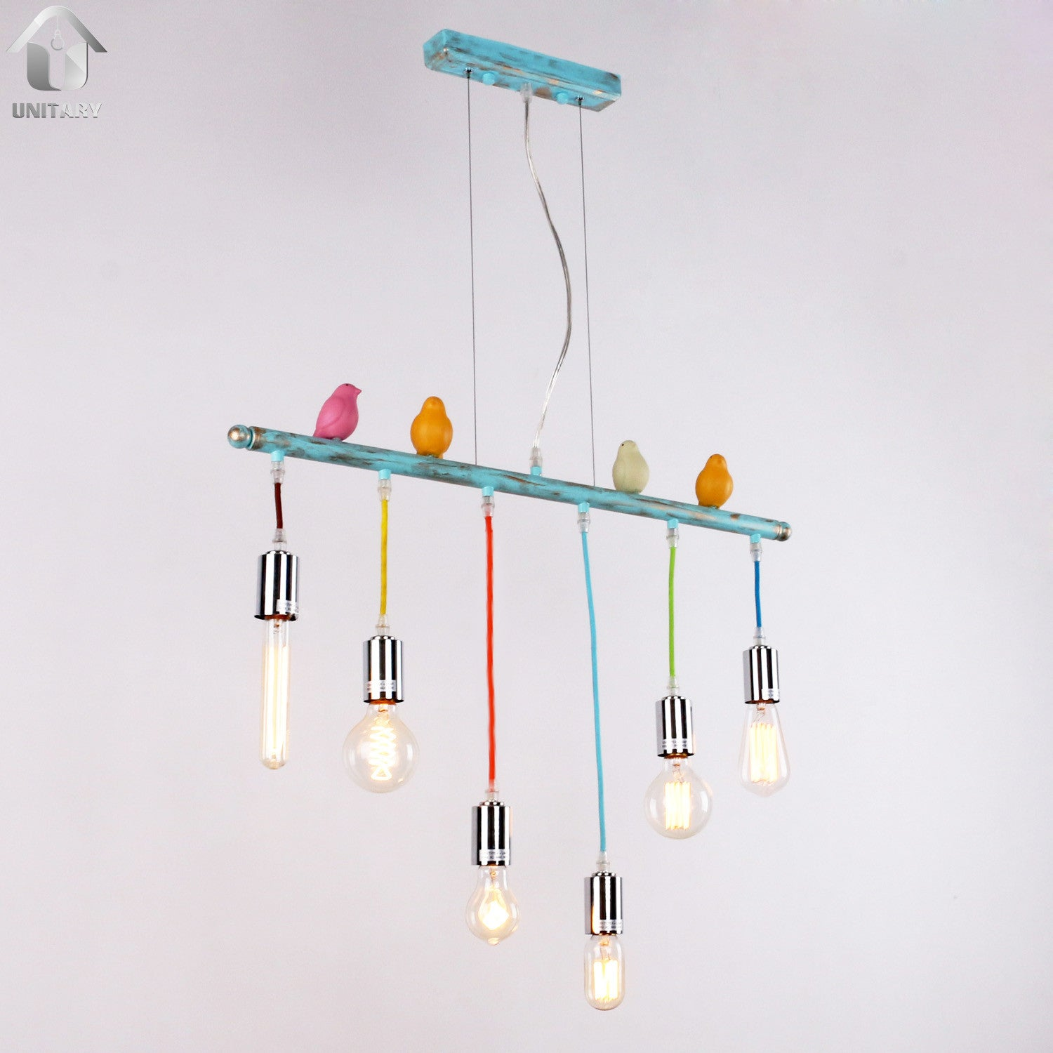 Unitary Cute Bird Ceiling Pendant Light 6x40w