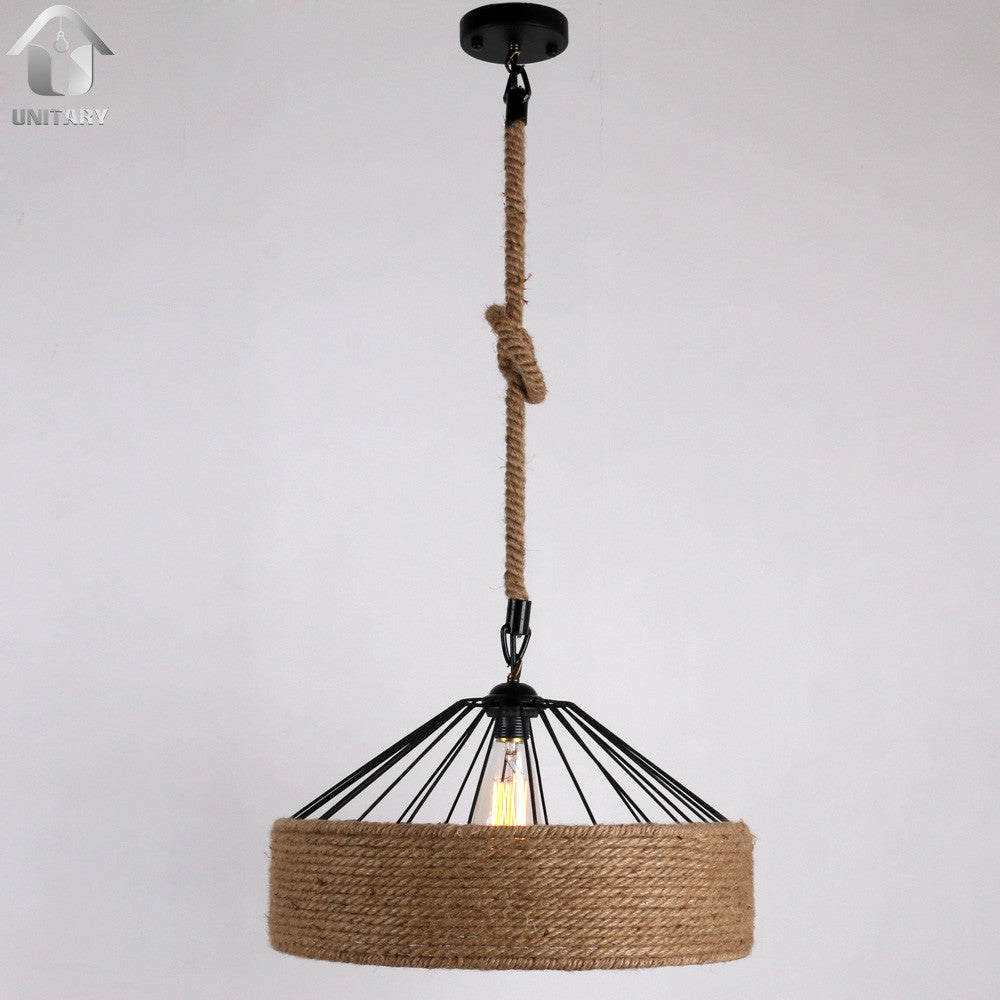Rustic braided hemp rope hanging ceiling pendant lighting with 1 rustic braided hemp rope hanging ceiling pendant lighting with 1 light aloadofball Choice Image