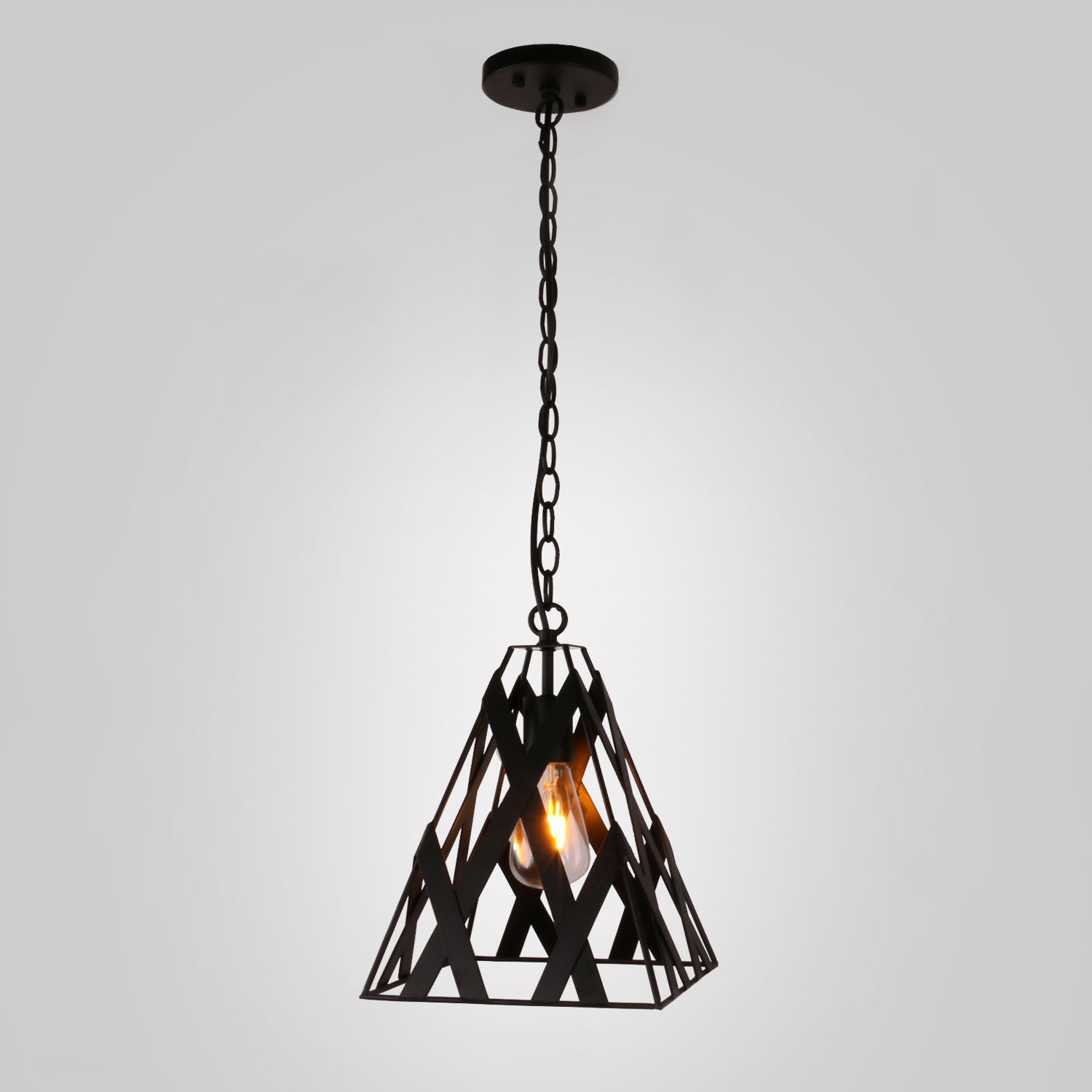 smoke lunar light in pendant pin new house round black lighting