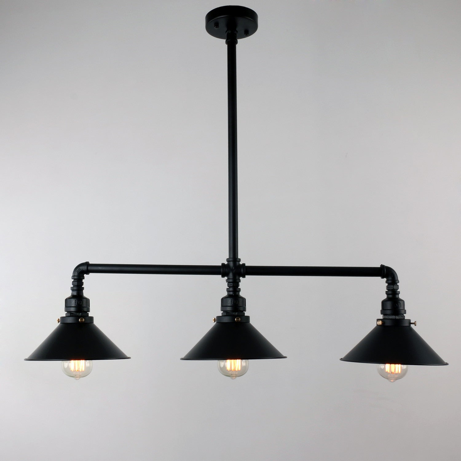 Unitary brand black antique rustic metal shade hanging ceiling unitary brand black antique rustic metal shade hanging ceiling pendant light max 120w with 3 lights aloadofball