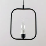 Black Vintage Simple Metal Hanging Ceiling Pendant Lighting With 1 Light