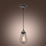 UNITARY BRAND Vintage Metal Cage Shade Barn Pendant Light Max 60W With 1 Light Painted Finish