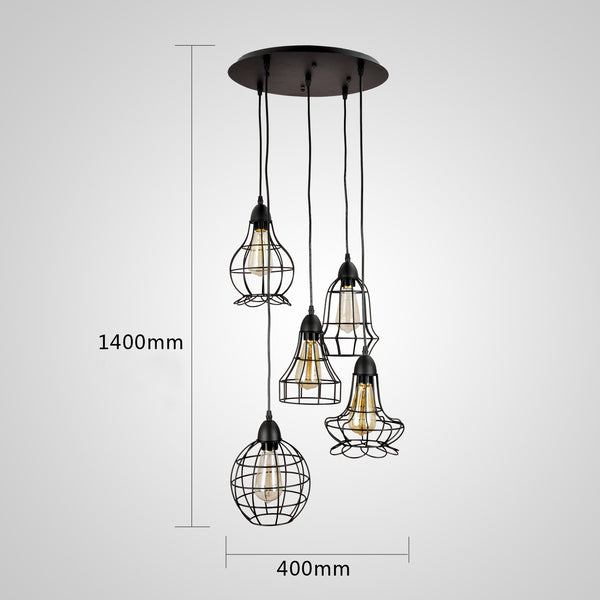 unitary brand rustic barn metal chandelier max 200w with 5