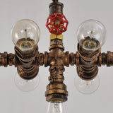 UNITARY BRAND Rustic Copper Water Pipe Chandelier Max .280W With 7 Lights Painted Finish