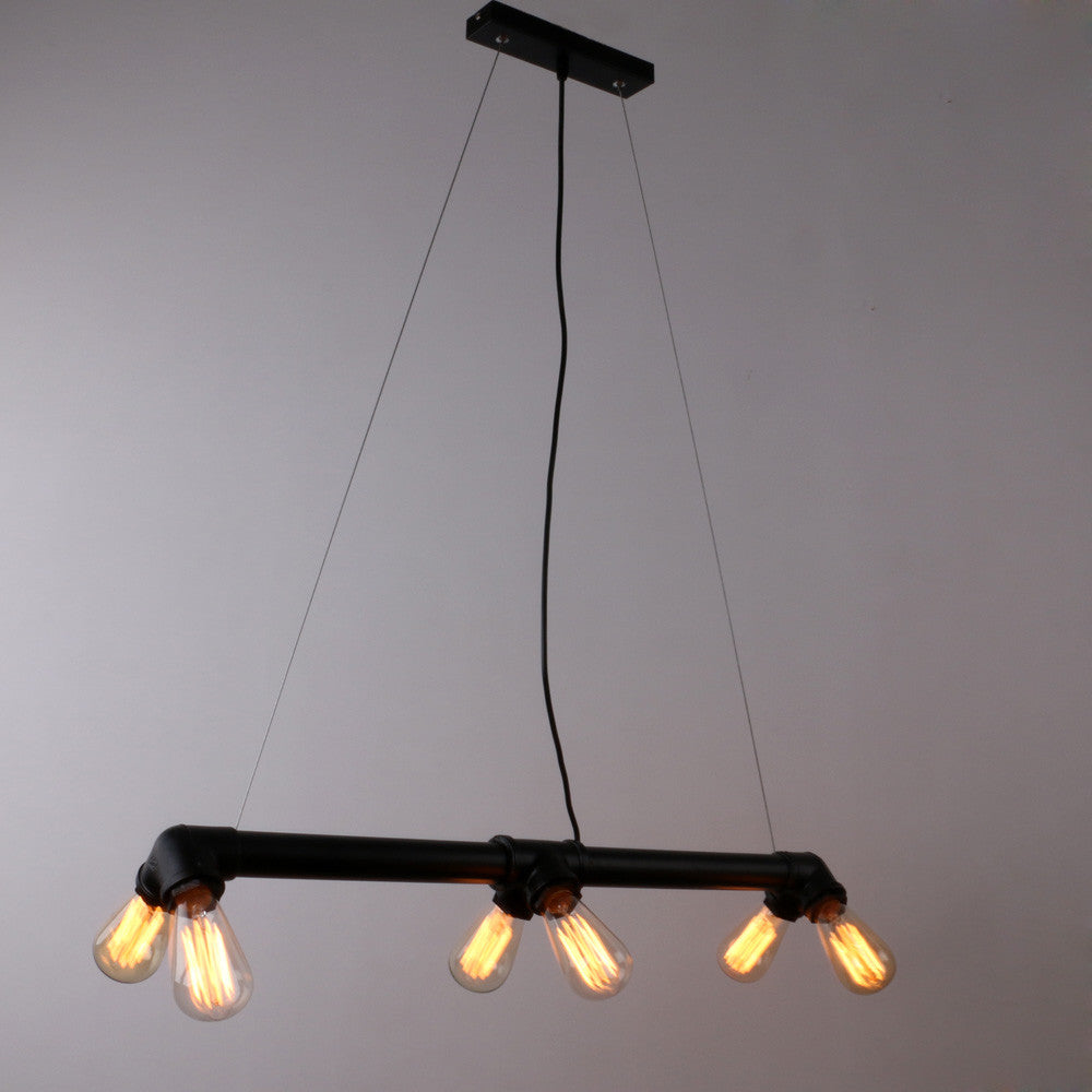 antique pendant lighting. Black Antique Rustic Metal Water Pipe Hanging Ceiling Pendant Lighting With 6 Lights A