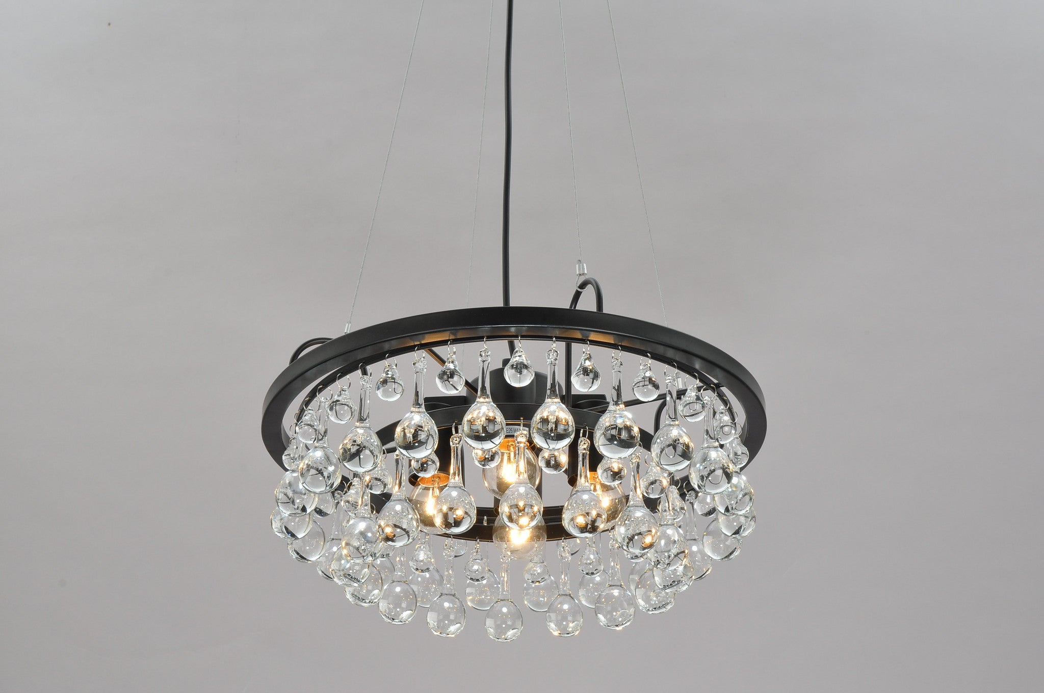 globe c category with ball of shades lighting chandelier floating on glass px pendant light crystal and