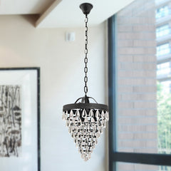 UNITARY BRAND Vintage Crystal Pendant Light Max 180W With 3 Lights Painted Finish