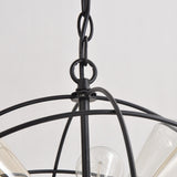 Vintage Metal Shade Round Hanging Ceiling Chandelier Max. 360W With 6 Lights Painted Finish
