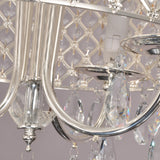 UNITARY BRAND Modern Crystal Large Drum Chandelier Max 240W With 4 Lights Chrome Finish