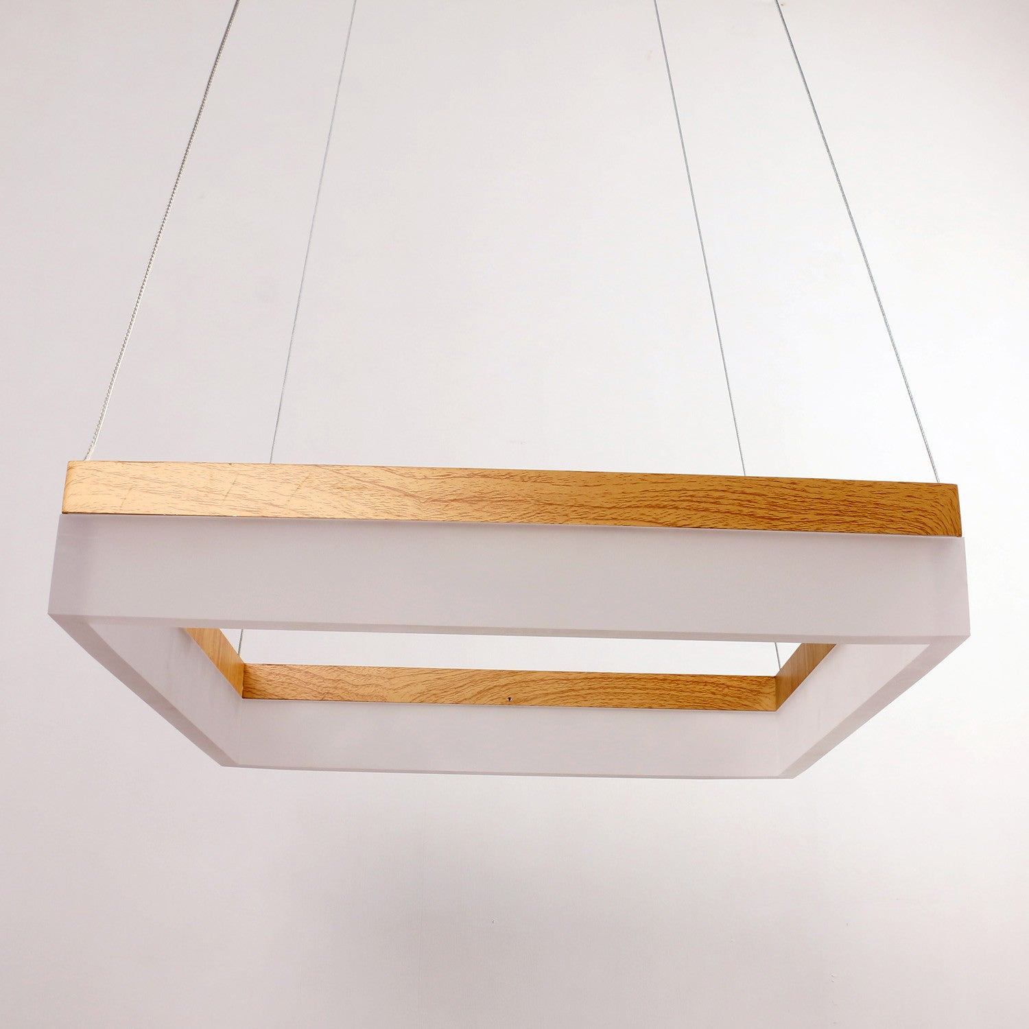 Modern square white led pendant lighting fixture 38w painted finish modern square white led pendant lighting fixture 38w painted finish mozeypictures Image collections