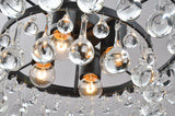 UNITARY BRAND Contemporary Clear Crystal Ball Pendant Light Max 160W With 4 Lights Painted Finish
