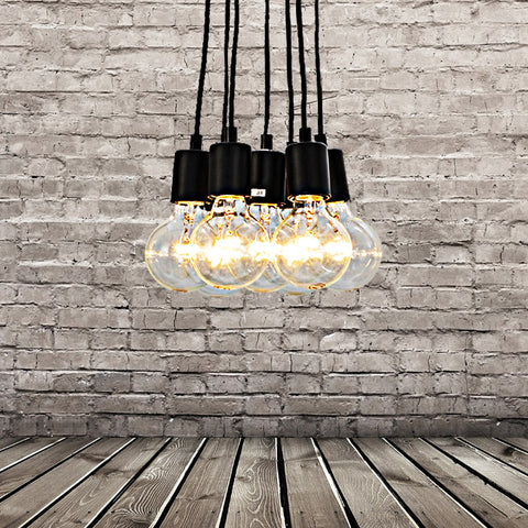UNITARY BRAND Vintage Multi Barn Pendant Light Max 280W With 7 Lights Painted Finish