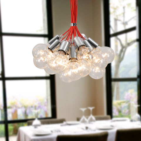 UNITARY BRAND Contemporary Large Chandelier Max 760W With 19 Lights Plating Finish
