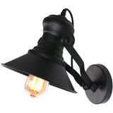 Unitary Brand Antique Black Metal Shade Wall light