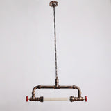 Copper Rustic Metal Water Pipe Hanging Ceiling Pendant Lighting