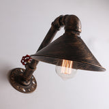 UNITARY BRAND Copper Rustic Metal Shade Water Pipe Wall Light Max. 40W With 1 Light Painted Finish