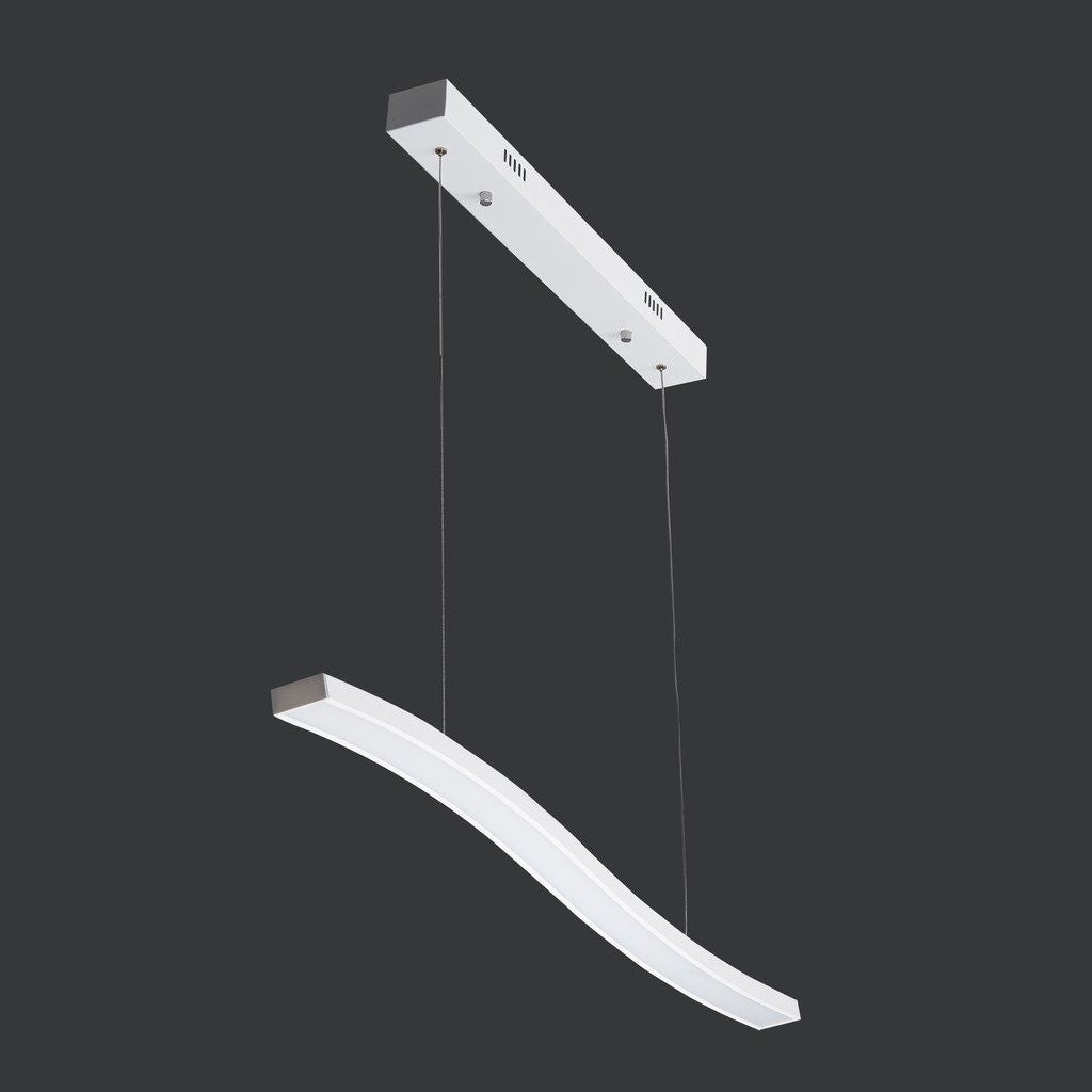 UNITARY BRAND White Modern  LED Acrylic Hanging Ceiling Pendant Light Max. 36W Painted Finish