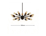 Unitary Brand Vintage Metal Large Chandelier with 18 Lights Painted Finish
