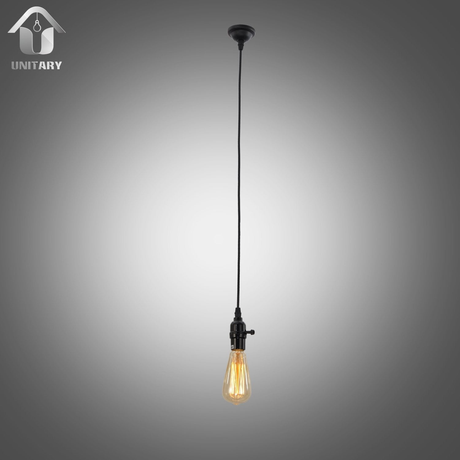 UNITARY BRAND Vintage Mini Pendant Light Max 60W with 1 light Painted Finish