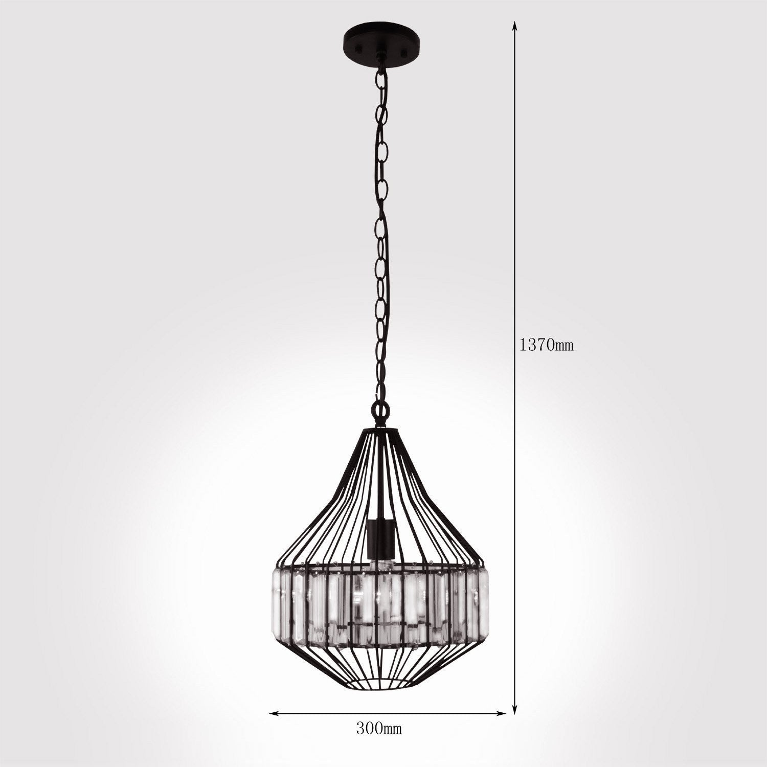 Unitary Brand Antique Steel Art Crystal Metal Cage Dining Room Pendant light with 1 E26 Bulb Socket 40W Painted Finish  sc 1 st  unitarylighting - Shopify & Unitary Brand Antique Steel Art Crystal Metal Cage Dining Room ...