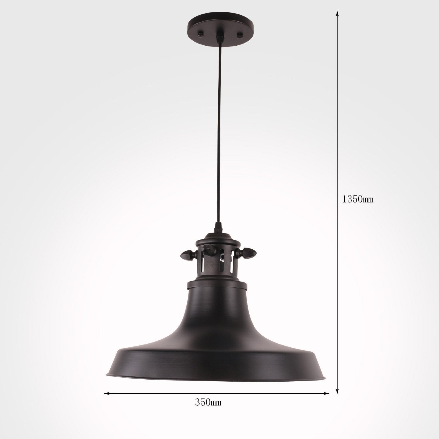 Unitary brand rustic black metal shade barn pendant light with 1 unitary brand rustic black metal shade barn pendant light with 1 e26 bulb socket 40w painted finish arubaitofo Image collections