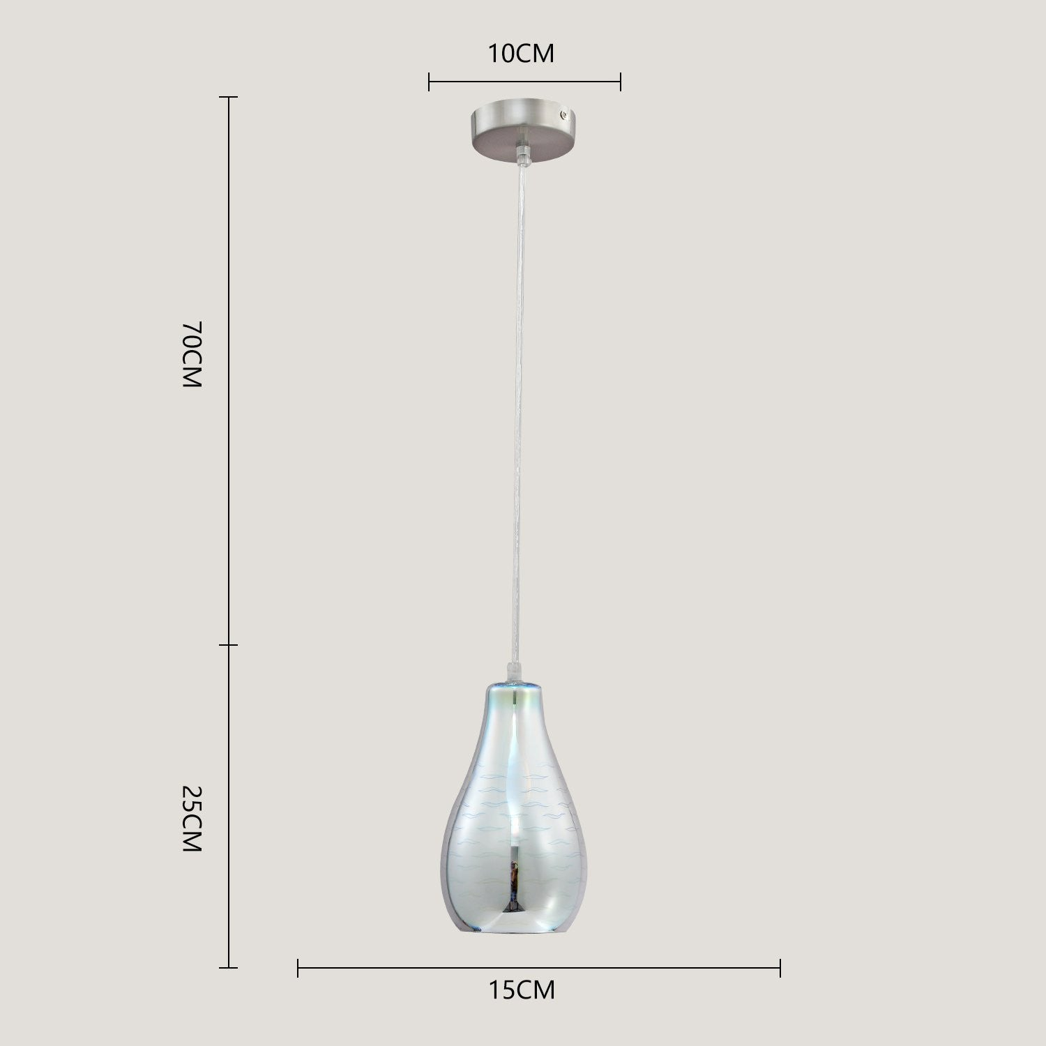 Unitary brand modern silvery 3d glass shade mini pendant light max unitary brand modern silvery 3d glass shade mini pendant light max 40w with 1 light socket plating finish mozeypictures Image collections