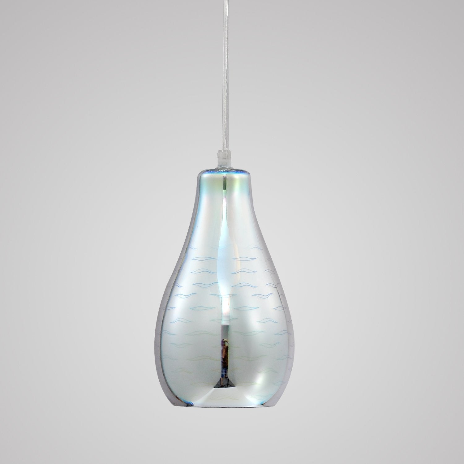 Unitary brand modern silvery 3d glass shade mini pendant light max unitary brand modern silvery 3d glass shade mini pendant light max 40w with 1 light socket plating finish mozeypictures Gallery