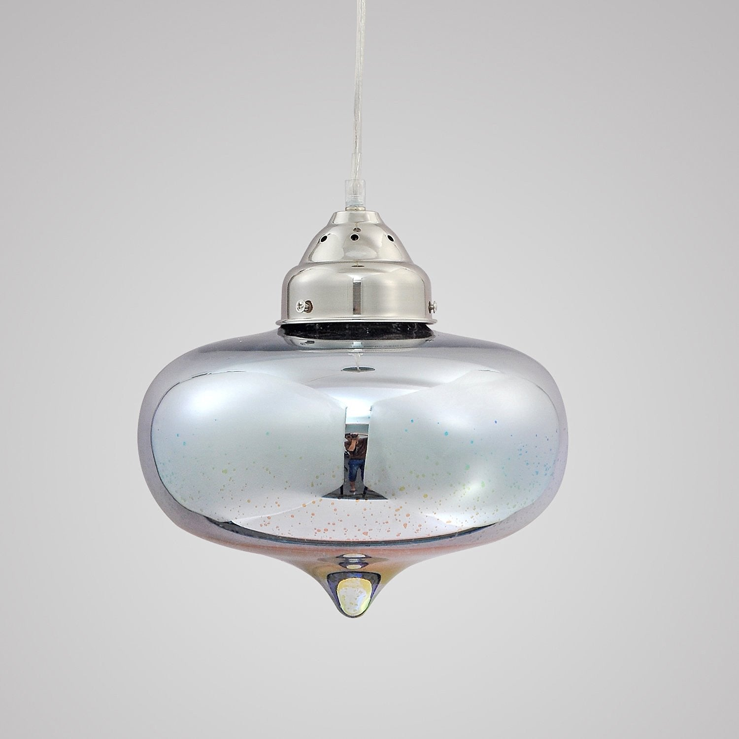 Unitary brand modern silvery 3d glass shade round pendant light max unitary brand modern silvery 3d glass shade round pendant light max 40w with 1 light socket plating finish mozeypictures Image collections