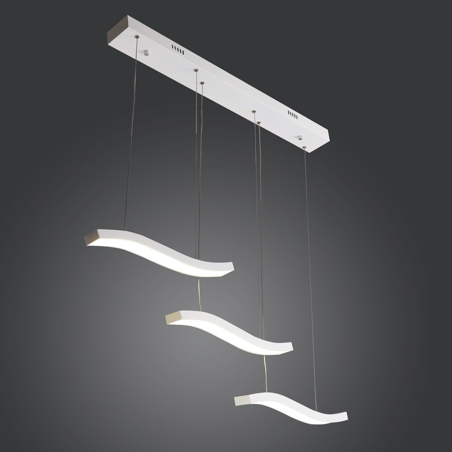 Modern 45W LED Acrylic Pendant Lighting Included With 3 Lights