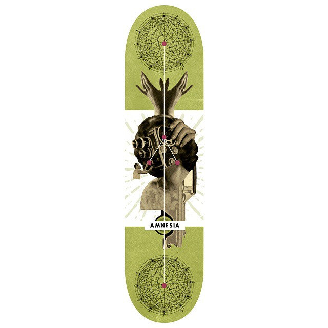 AMNESIA Mediad deck. Available at independent skate shops and online. Does your local stock AMNESIA?