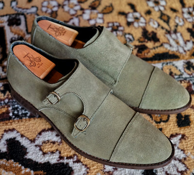 THE BENEDICT MONK (IN MOSS SUEDE) - JUST A MEN SHOE