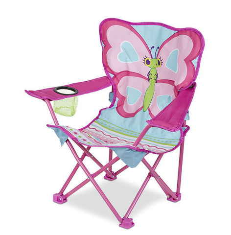 Melissa & Doug Cutie Pie Butterfly Camp Chair - Toyabella  - 1