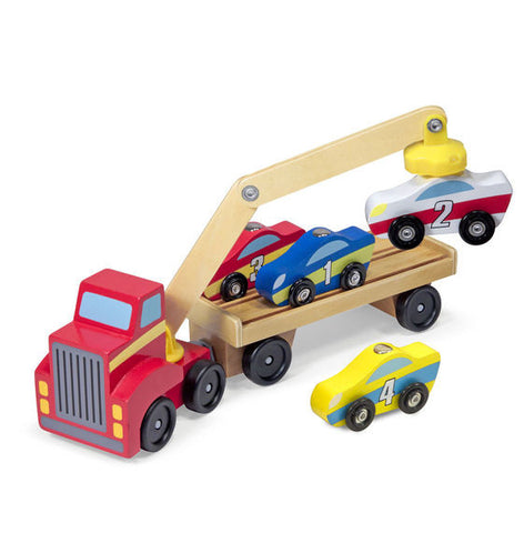 Melissa & Doug Magnetic Car Loader - Toyabella  - 1
