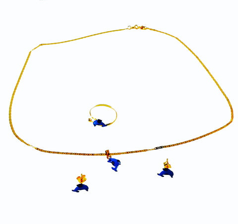 Exclusive Children's Collection 22 Kt Gold Busy Bee Jewelry